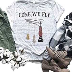 Come We Fly T-Shirt Women Halloween Graphic Tees